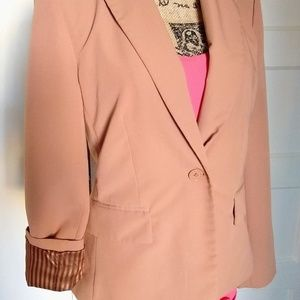 Forever 21 tan and gold suit jacket